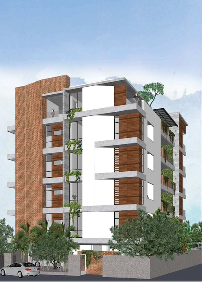 Alwarpet Apartments Elevations